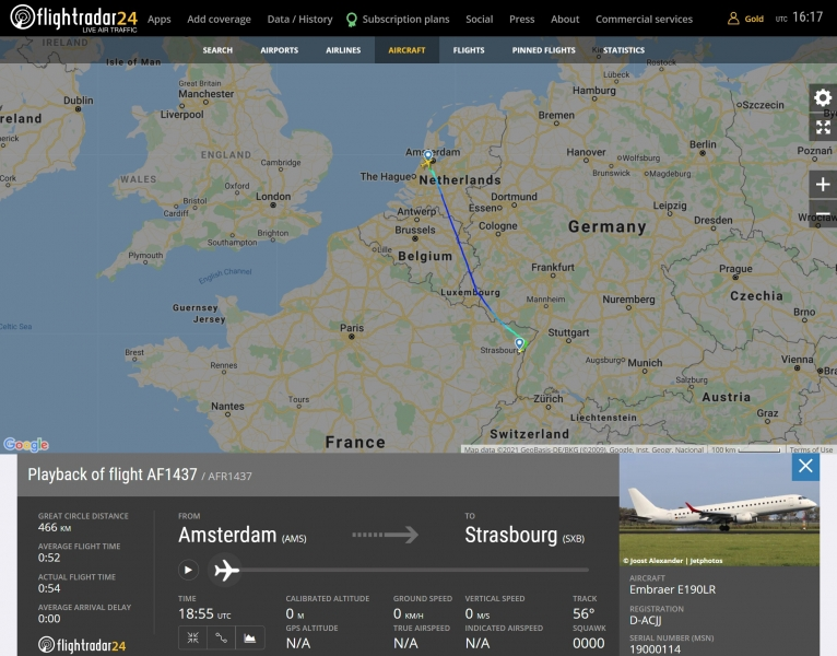 German Airways fleet  @ Flightradar